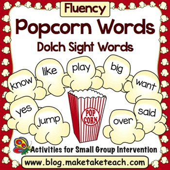 Sight Words - Popcorn Words Dolch Sight Words