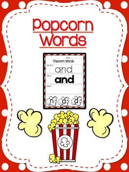 PreK Popcorn Words