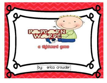 Popcorn Words!  A Sight Word Game {Freebie}