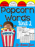 Sight Words Popcorn Words Activities set 2 for Centers and Word Work