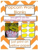 Popcorn Words - Blank Set