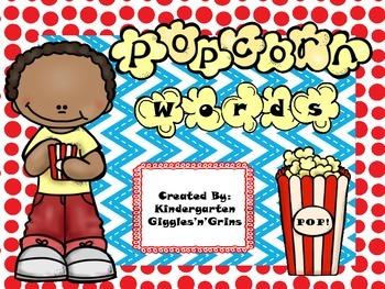 Popcorn Words FREEBIE!