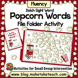 Sight Words - Dolch Sight Words Popcorn File Folder Activity