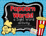 Popcorn Words Fry's 1st 100 {A Sight Word Activity}