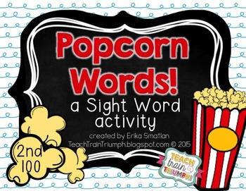 Popcorn Words Fry's 2nd 100 {A Sight Word Activity}