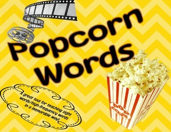 Popcorn Words- Fun Learning Sight Words and High-Frequency Words