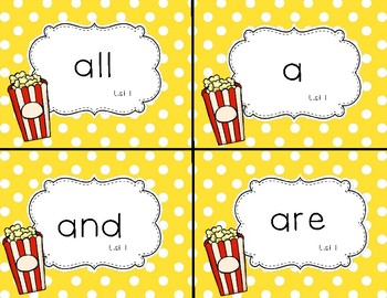Popcorn Words:  High Frequency Words that POP up in books!