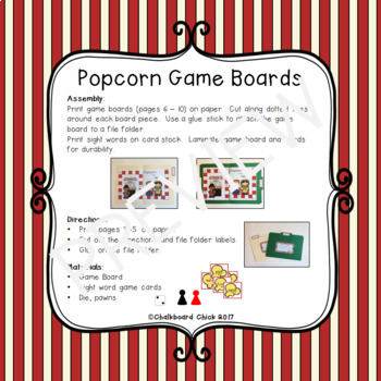 Popcorn Words: K-3 Sight Words Partner Games