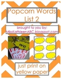 Popcorn Words - List 2 Set