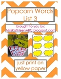 Popcorn Words - List 3 Set