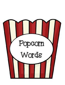Popcorn Words Literacy Activities Set One