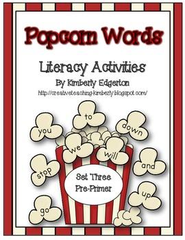 Popcorn Words Literacy Activities Set Three