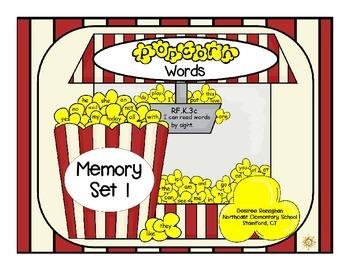 Popcorn Words: Memory Set 1