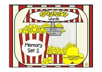 Popcorn Words: Memory Set 2