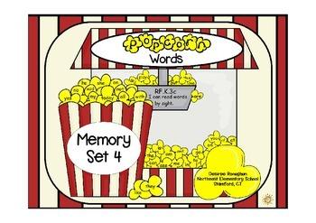 Popcorn Words: Memory Set 4
