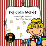 Popcorn Words: Noun Sight Words Partner Game