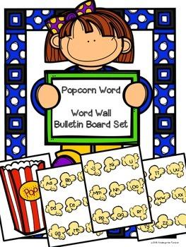 Popcorn Words Word Wall Bulletin Board Header Kit