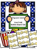 Popcorn Words Word Wall Bulletin Board Header Kit