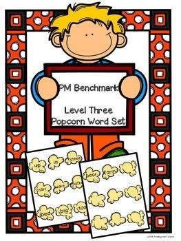 Popcorn Words - PM Benchmark Level 3 - Sight Words