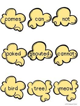 Popcorn Words - PM Benchmark Level 4 - Sight Words