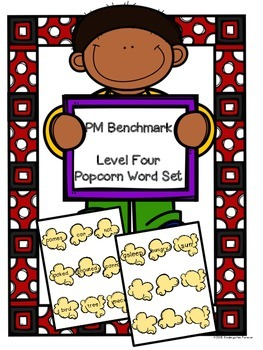 Popcorn Words - PM Benchmark Level 4 - Sight Words