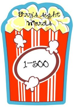 Popcorn Words Packet! First 500 Fry's Sight Words