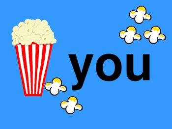 Popcorn Words PowerPoint
