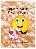 Popcorn Words Practice Pages
