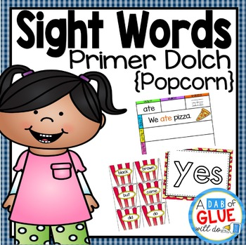 Sight Word Activities, Centers, and Word Wall: Dolch Primer {Popcorn}