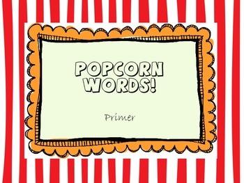 Popcorn Words - Primer list