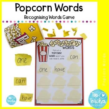 Popcorn Words Recording Sheet