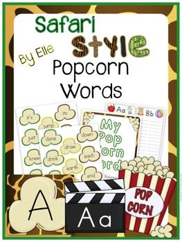 Popcorn Words - Safari Style Theme {Jungle and Animal Print}