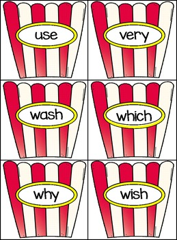 Sight Word Activities, Centers, and Word Wall: Second Grade Dolch {Popcorn}