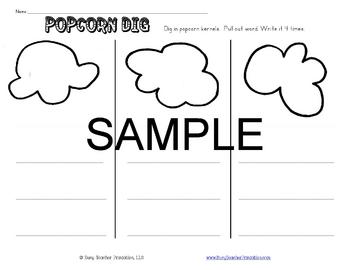 Popcorn Words (Sight Word) Centers Set 2 - Programmable! Printable!
