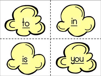 Popcorn Words: Sight Word Flash Cards