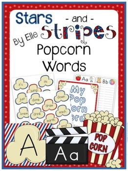 Popcorn Words - Stars and Stripes Theme {Red, White, and Blue}