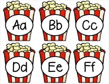 Popcorn Sight Words - {With Alphabet Labels}