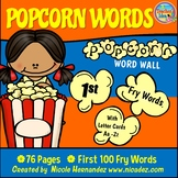 Popcorn Word Wall - (Fry's 1st 100 Sight Words) With Alpha