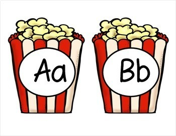Popcorn Word Wall - (Fry's 1st 100 Sight Words) With Alphabet Labels
