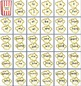 Popcorn Word Cards - Editable - Two sizes