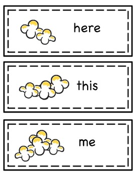 Popcorn Words for Word Walls and Centers