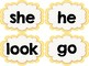 Popcorn Words (sight words, high-frequency words, trick words) for Word Wall