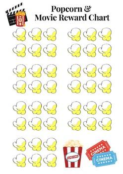 Popcorn and Movie Reward Chart