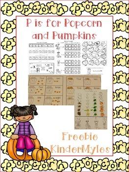 Popcorn and Pumpkins {Freebie}