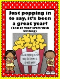 Popcorn end of the year craft with writing