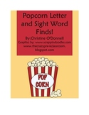 Popcorn letter and sight word finds: reading, writing and hunting!