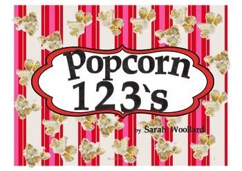 Popcorn numbers Pre-K-1st Grade, Homeschool Free resource