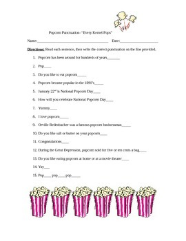 Popcorn punctuation
