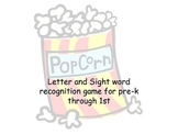 Popcorn - sight word and letter recognition game