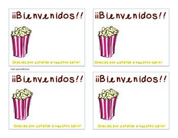 Popcorn sticker for Open House/Curriculum Night